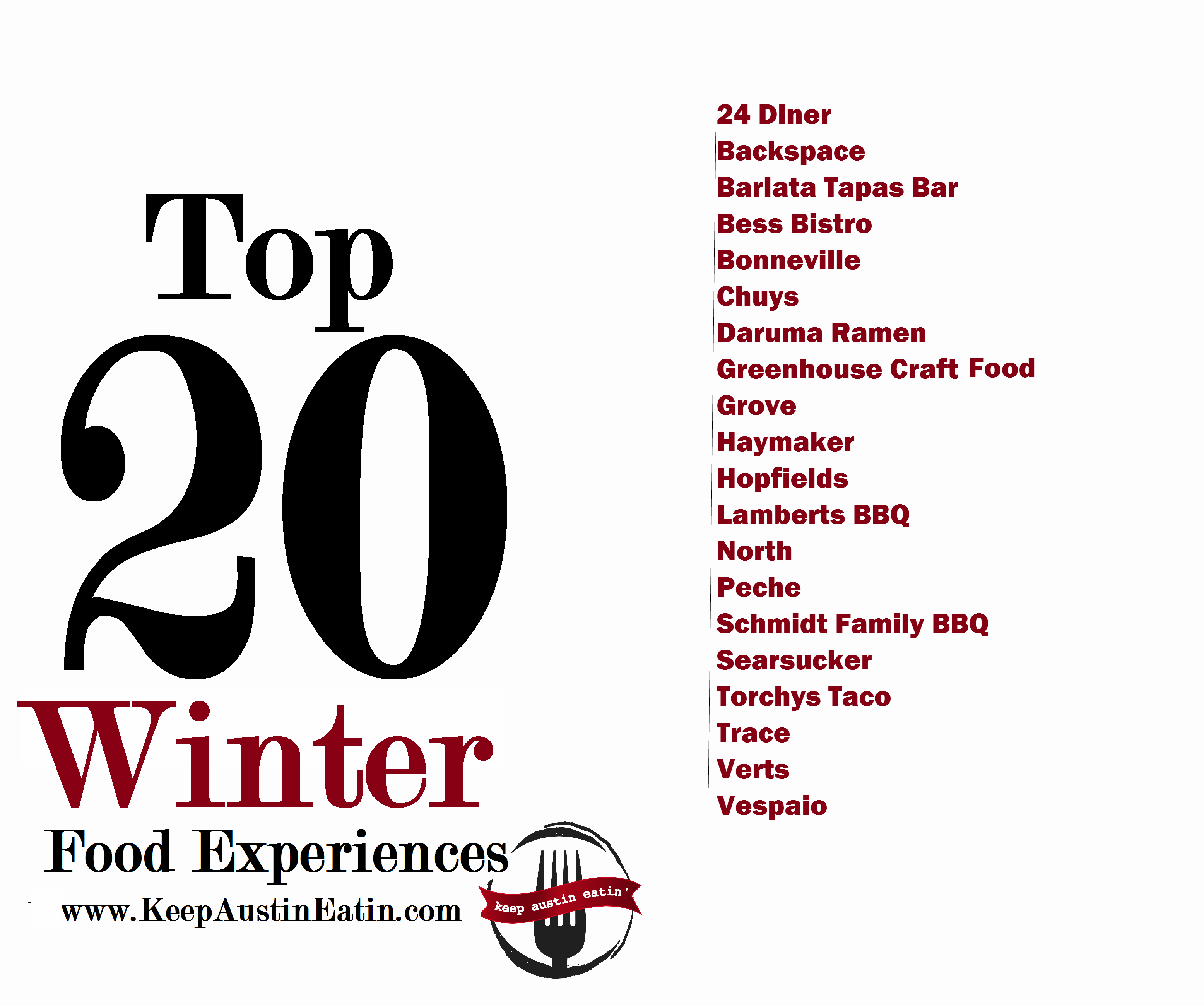 TOP 20 WINTER FOOD EXPERIENCES