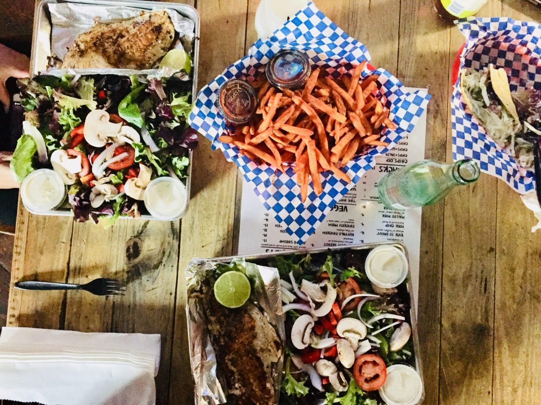 turf and surf is the best bar food including amazing fish tacos